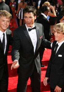 Rob Lowe arrives at the 61st Primetime Emmy Awards held at the Nokia Theatre on September 20th 2009 in Los Angeles