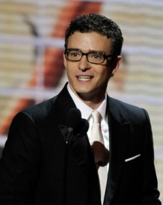 Justin Timberlake presents the Outstanding Lead Actress in a Comedy Series award onstage during the 61st Primetime Emmy Awards