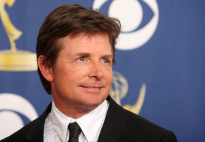 Michael J Fox poses in the press room at the 61st Primetime Emmy Awards