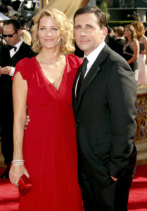 Steve Carell and his wife Nancy Carell arrive at the 61st Primetime Emmy Awards held at the Nokia Theatre on September 20th 2009 in Los Angeles