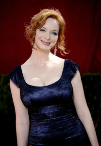 Christina Hendricks arrives at the 61st Primetime Emmy Awards held at the Nokia Theatre on September 20th 2009 in Los Angeles