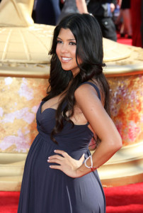 Kourtney Kardashian arrives at the 61st Primetime Emmy Awards held at the Nokia Theatre on September 20th 2009 in Los Angeles