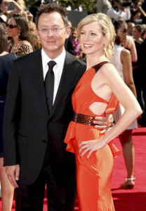 Michael Emerson and Carrie Preston arrive at the 61st Primetime Emmy Awards held at the Nokia Theatre on September 20th 2009 in Los Angeles
