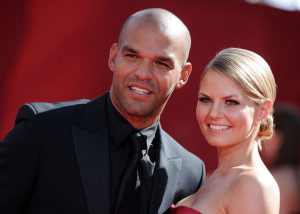Jennifer Morrison and Amaury Nolasco arrive at the 61st Primetime Emmy Awards held at the Nokia Theatre on September 20th 2009 in Los Angeles