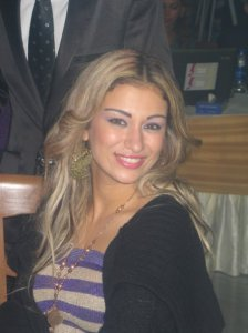 Reem Ghezali at a restaurant