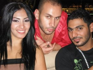 Mirhan Hussein enjoying a dinner out in Lebanon beirut during her stay at a hotel there in September 2009 with Nasser Abo Lafi the Jordanian Rapper 2