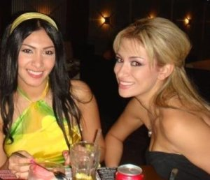 Mirhan Hussein enjoying a dinner out in Lebanon beirut during her stay at a hotel there in September 2009 with Reem Ghazali 1