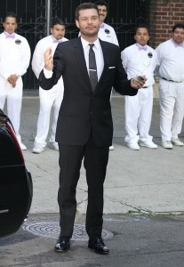 Ryan Seacrest arrives at Khloe Kardashian and Lamar Odom wedding reception held at the couples residence in Beverly Hills on September 27th 2009 3