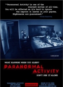 Paranormal Activity advertisement promo poster