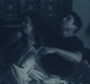 Katie Featherston photo stills from the horror movie paranormal activity with Micah Sloat