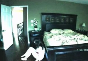 Katie Featherston photo stills from the horror movie paranormal activity scared