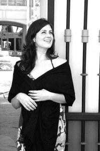 Katie Featherston photo black and white