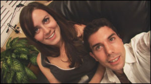Katie Featherston photo and Micah Sloat the co actor of paranormal activity