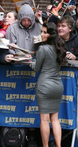 Kim Kardashian spotted arriving at The Late Show with David Letterman in New York City on October 1st 2009 2
