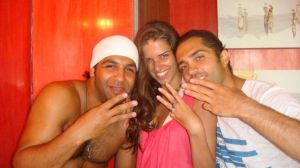 Summer Beach Photo of Ibrahim Dashi with Mohamad Bash with Lara Iskandar