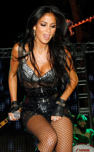 Nicole Scherzinger attends the Bare Pool Lounge party at the Mirage Hotel and Casino to celebrate the 20th anniversary of the resort on October 3rd 2009 1
