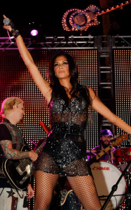Nicole Scherzinger attends the Bare Pool Lounge party at the Mirage Hotel and Casino to celebrate the 20th anniversary of the resort on October 3rd 2009 7