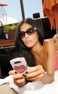 Nicole Scherzinger was spotted wearing a pink bikini at the Bare Pool Lounge party at the Mirage Hotel and Casino to celebrate the 20th anniversary of the resort on October 3rd 2009 1