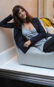 Helena Christensen was spotted inside the new Habitat Regent Street boutique in London England on October 5th 2009 7