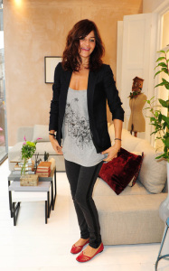 Helena Christensen was spotted inside the new Habitat Regent Street boutique in London England on October 5th 2009 5