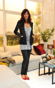Helena Christensen was spotted inside the new Habitat Regent Street boutique in London England on October 5th 2009 4