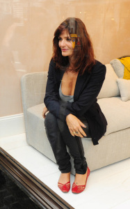 Helena Christensen was spotted inside the new Habitat Regent Street boutique in London England on October 5th 2009 3