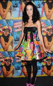 Katy Perry spotted at the Castelbajac Spring Summer 2010 runway fashion show on October 6th 2009 1