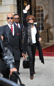 Whitney Houston was spotted leaving her hotel in Paris France on October 6th 2009 1