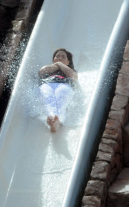 America Ferrera spotted having fun with water sliding on the filming set of Ugly Betty at The Atlantis Hotel resort in the Bahamas on October 6th 2009 1