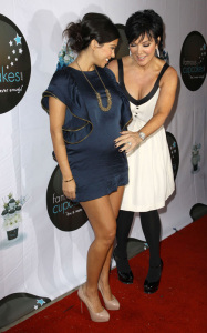 Kris Jenner and Kourtney Kardashian arrive at the grand opening of Famous Cupcakes on October 7th 2009 2