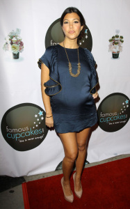 pregnant Kourtney Kardashian seen at the grand opening of Famous Cupcakes on October 7th 2009 2