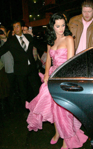 Katy Perry attends the John Galliano ready to wear fashion show of spring summer collection in Paris on October 7th 2009 2