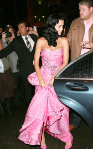 Katy Perry attends the John Galliano ready to wear fashion show of spring summer collection in Paris on October 7th 2009 1
