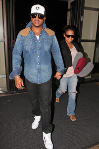 Christina Milian spotted with her husband The Dream at the airport on October 8th 2009 2