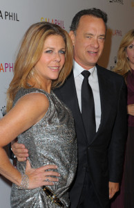 Tom Hanks and his wife Rita Wilson arrive at the Inaugural Gala of the Los Angeles Philharmonic at the Walt Disney Concert Hall on October 8th 2009 in Los Angeles California 2