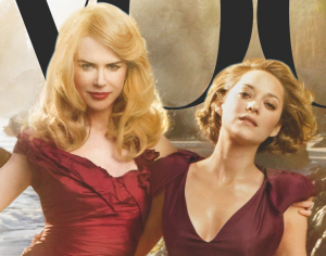 Nicole Kidman with Marion Cotillard on the cover of the November 2009 cover of Vogue magazine 3