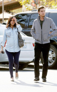 Kourtney Kardashian and her boyfriend Scott Disick spotted at the Marmalade Cafe in Los Angeles on October 8th 2009 2
