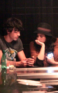 Joe Jonas and Demi Lovato spotted having dinner at Yamato Steakhouse in Yorkville Toronto Canada on October 5th 2009 3