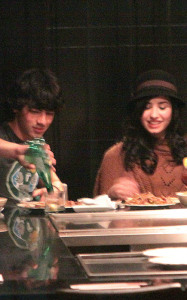 Joe Jonas and Demi Lovato spotted having dinner at Yamato Steakhouse in Yorkville Toronto Canada on October 5th 2009 1