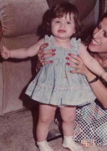 Nicole Saba baby girl picture