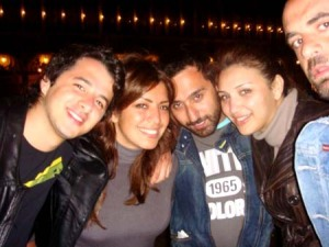 Diaa Taybi photo with her friends Amal Bshoshah and Nader Quirat
