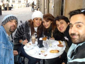 Diaa Taybi photo with Amal Bshoshah and Nader Quirat