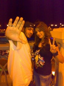 Diala Odeh and Nasser Abu Lafi together in a new picture 2