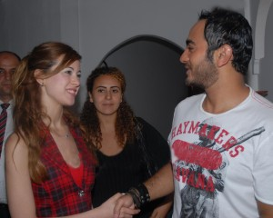 Khawla and Tamer Hosni meeting together 6