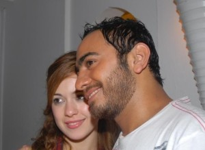 Khawla and Tamer Hosni meeting together 9