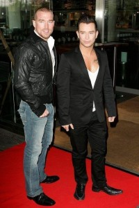 Stephen Gately with his husband Andrew Cowles at the UK Premiere of the new Disney Pixar Film Up held at the London BFI IMAX in England on October 4th 2009