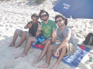 Zaher Zorgatti picture at the beach with his friends 3