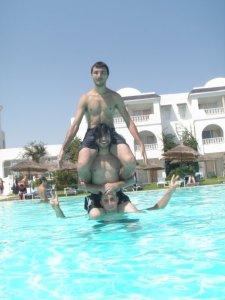 Zaher Zorgatti photo while swimming at the sea 1