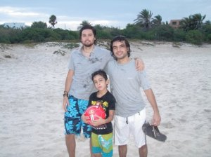 Zaher Zorgatti picture at the beach with his friends 4
