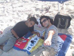 Zaher Zorgatti picture at the beach with his friends 1